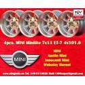 4 pcs.  llantas Mini 7x13 ET-7 4x101.6