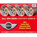 4 pcs. Mini 7x13 ET-7 4x101.6 wheels