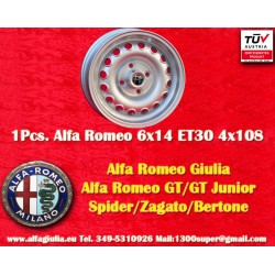 1 pz. llanta Alfa Romeo 6x14 ET30 4x108