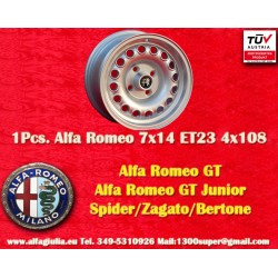 1 pc. wheel Alfa Romeo 7x14 ET23 4x108