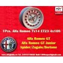 1 pc. cerchio Alfa Romeo 7x14 ET23 4x108