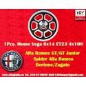 1 Stk Felge Alfa Romeo Momo Vega  6x14 ET23 4x108