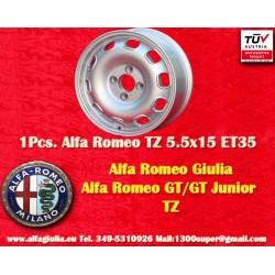 1 pc. Cerchio Alfa Romeo Giulia TI/TZ Giulietta 5.5x15 ET35 4x108