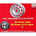 1 pc. Felge Alfa Romeo Giulia TI/TZ Giulietta 5.5x15 ET35 4x108