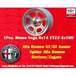 Alfa Romeo Momo Vega  6x14 ET23 4x108 SIlver