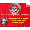 1 Stk. Felge Alfa Romeo Momo Vega  6x14 ET23 4x108 SIlver