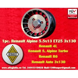 1 pc. cerchio Renault R4/R5/R6 Turbo Alpine 5.5x13 ET25 3x130