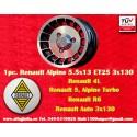1 pz. llanta Renault R4/R5/R6 Turbo Alpine 5.5x13 ET25 3x130