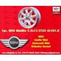 1 pc. llanta Mini 5.5x13 ET25 4x101.6