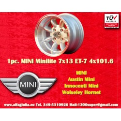 1 pc. Mini 7x13 ET-7 4x101.6 wheel