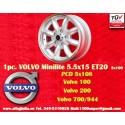 1 pz. llanta Volvo Minilite 5.5x15 ET20 5x108