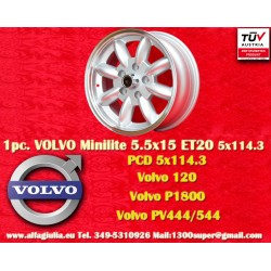 1 pc. Volvo Minilite 5.5x15 ET20 5x114.3 wheel