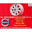1 pz. llanta Volvo Minilite 5.5x15 ET20 5x114.3