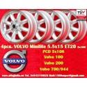 4 Stk. Felgen Volvo Minilite 5.5x15 ET20 5x108