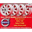 4 pcs.  Volvo Minilite 5.5x15 ET20 5x114.3 wheels