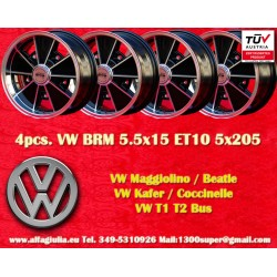 4 pcs. Volkswagen  BRM 5.5x15 5x205 ET10 wheels