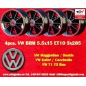 4 pz. llantas Volkswagen  BRM 5.5x15 5x205 ET10