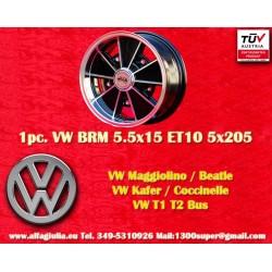 1 pc. Volkswagen  BRM 5.5x15 5x205 ET10 wheel