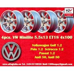 4 Stk. Felgen Volkswagen 5.5x13 ET18 4x100