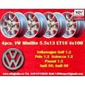 4 Stk. Volkswagen 5.5x13 ET18 4x100
