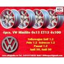 4 pz. llantas Volkswagen Minilite 6x13 ET13 4x100