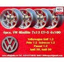 4 pcs. cerchi Volkswagen Minilite 7x13 ET+5 4x100