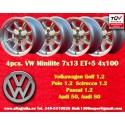 4 pcs. Felgen Volkswagen Minilite 7x13 ET+5 4x100