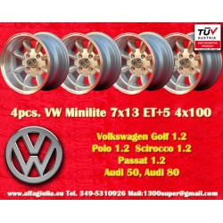 4 pcs. BMW Minilite 7x13 ET-7 4x100