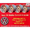 4 pz. llantas Volkswagen Minilite 7x13 ET-7 4x100