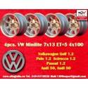 4 Stk Felgen Volkswagen Minilite 7x13 ET-7 4x100