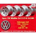 4 pcs. jantes Volkswagen Minilite 8x13 ET-6 4x100