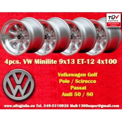 4 pz. llantas Volkswagen Minilite 9x13 ET-12 4x100