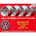 4 pcs. jantes Volkswagen Minilite 9x13 ET-12 4x100
