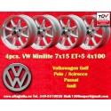 4 Stk. Felgen Volkswagen Minilite 7x15 ET+5 4x100
