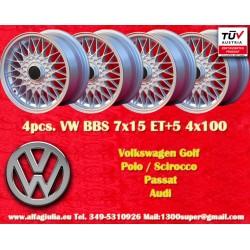 4 Stk Felgen  BBS Volkswagen  7x15 ET24 4x100