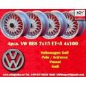 4 pcs. jantes BBS Volkswagen  7x15 ET24 4x100