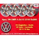 4 Stk. Felgen Volkswagen  EMPI 5.5x15 5x205 ET10