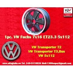 Volkswagen T2 T3 Fuchs 7x16 ET23.3 5x1112