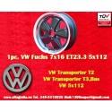 1 pc. Volkswagen T2 T3 Fuchs 7x16 ET23.3 5x112 wheel