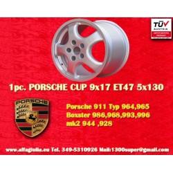 1 pc. cerchio Porsche CUP 9x17 ET47 5x130