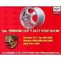 1 pz. llanta Porsche CUP 7.5x17 ET52 5x130