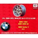 1 pz. llanta BMW Minilite 6x13 ET13 4x100