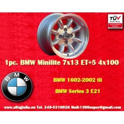 1 pc. cerchio BMW Minilite 7x13 ET+5 4x100