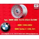 1 pz. llanta BMW Series 3, E21, E30 BBS X Spoke 7x15 ET24 4x100