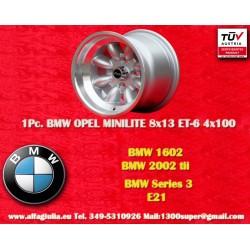 1 pz. llanta BMW Minilite 8x13 ET-6 4x100