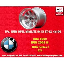 1 pc. cerchio BMW Minilite 9x13 ET-12 4x100