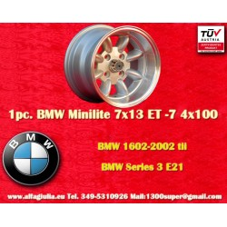 1 pc. wheel BMW Minilite 7x13 ET-7 4x100