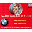 1 Stk. Felge BMW Minilite 7x13 ET-7 4x100