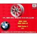 1 Stk. Felge BMW Minilite 7x15 ET+5 4x100