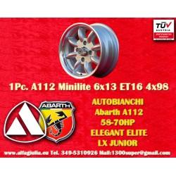 1 pz. llanta Minilite Autobianchi A112  6x13 ET13 4x98